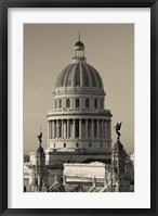 Framed Cuba, Havana, Capitol Building, dawn
