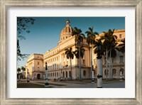 Framed Cuba, Havana, Capitol Building, sunset