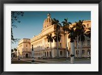 Framed Cuba, Havana, Capitol Building, sunset