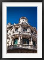Framed Cuba, Havana, Havana Vieja, Hotel Raquel, exterior