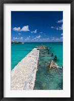 Framed Cuba, Havana, Playas del Este, Playa Jibacoa, pier