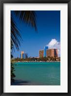 Framed Cuba, Matanzas, Varadero Beach, Hotel Playa Caleta