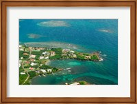 Framed Grenada, City of St George and the beach