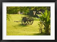 Framed Domaine de Severin Rum Distillery, and Sugar Cane Cart, Guadaloupe, Caribbean