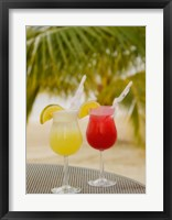 Framed Cocktails on the Beach, Jamaica, Caribbean