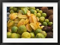 Framed Star Fruit and Citrus Fruits, Grenada, Caribbean