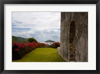 Framed Ruins at Chateau Dubuc, Caravelle Peninsula, Martinique, French Antilles, West Indies