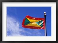 Framed National Flag of Grenada, Caribbean