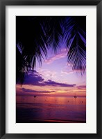 Framed Sunset on the beach, Negril, Jamaica, Caribbean