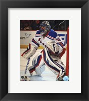 Framed Henrik Lundqvist Hockey Goaltending