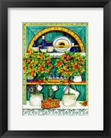 Framed Blossoming Kitchen I