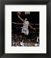 Framed Kawhi Leonard dunking 2014-15