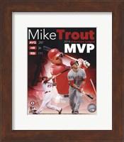 Framed Mike Trout 2014 American League MVP Portrait Plus