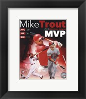 Framed Mike Trout 2014 American League MVP Portrait Plus