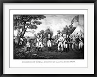 Framed Surrender of British General John Burgoyne at Saratoga