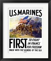Framed US Marines First