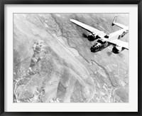 Framed B-25 bomber During WWII