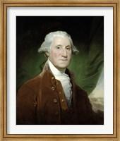 Framed Digitally Restored Vector Painting of George Washington