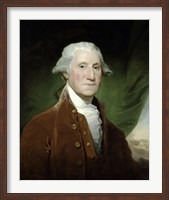 Framed Digitally Restored Vector Painting of George Washington