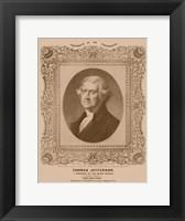 Framed Thomas Jefferson (decorative print)