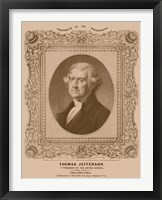 Framed Thomas Jefferson (decorative print)