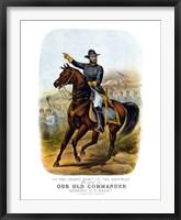 Framed General Ulysses S Grant on Horseback