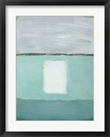 Framed Azure Blue II