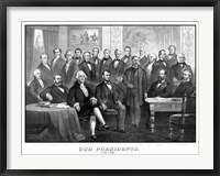 Framed First Twenty-One Presidents Seated Together in The White House