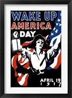 Framed Wake Up America Day