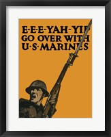 Framed Go Over with U.S. Marines