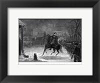 Framed George Washington at The Battle of Trenton