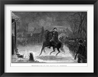 Framed George Washington at The Battle of Trenton
