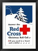 Framed Red Cross Christmas Roll Call
