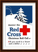 Framed Red Cross Christmas Roll Call