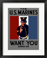 Framed U.S. Marines Want You