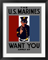 Framed U.S. Marines Want You