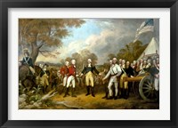 Framed Surrender of British General John Burgoyne