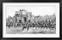 Framed Napoleon I Reviewing His Troops, Paris, France