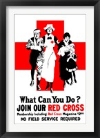 Framed Join Our Red Cross
