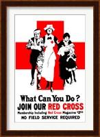 Framed Join Our Red Cross