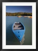 Framed Puerto Rico, Guanica, Bahia de la Ballena bay, boats