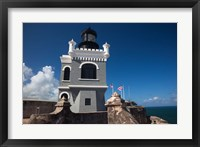 Framed Puerto Rico, San Juan, El Morro Fortress, lighthouse
