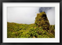 Framed Rim of Summit Crater on Mt Pelee, Martinique, French Antilles