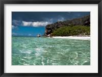 Framed Pajaros beach in Mona Island, Puerto Rico, Caribbean