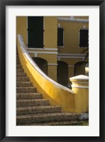 Framed Customs House exterior stairway, Christiansted, St Croix, US Virgin Islands