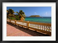 Framed Puerto Rico, Esperanza, Vieques Island and boats