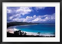 Framed Soni Beach on Culebra Island, Puerto Rico