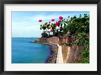 Framed Waterfront Walkway, Fort San Felipe del Morro, San Juan, Puerto Rico,
