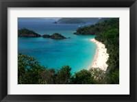 Framed Trunk Bay Beach, St Johns, US Virgin Islands
