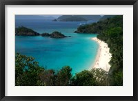 Framed Trunk Bay Beach, St Johns, US Virgin Islands